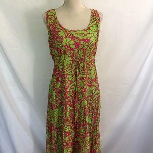 SOFT SURROUNDINGS Vibrant Floral Dress M 10-12